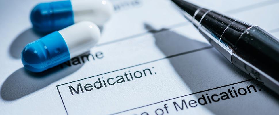 Documento con pastillas