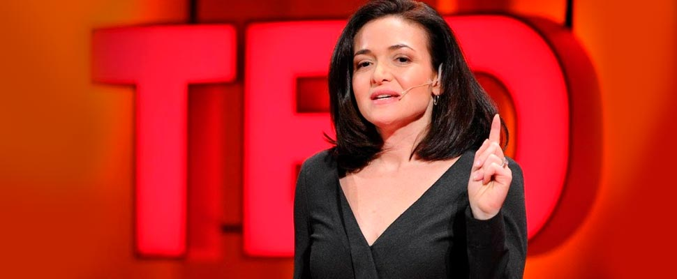 Sheryl Sandberg in her TED Talk