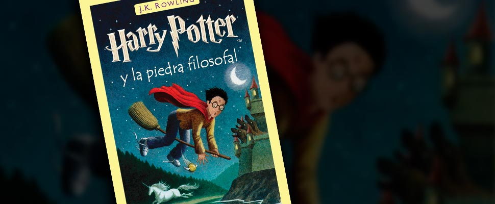 Cover of the book 'Harry Potter and the philosopher's stone' by J.K. Rowling.