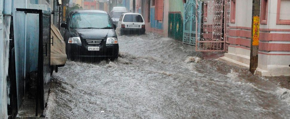 Flood in a street