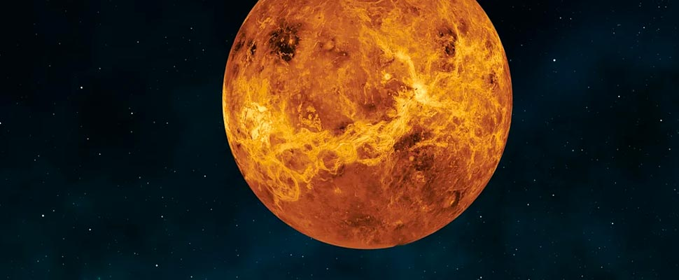 View of the planet Venus