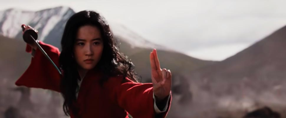 Frame from the movie 'Mulán'.