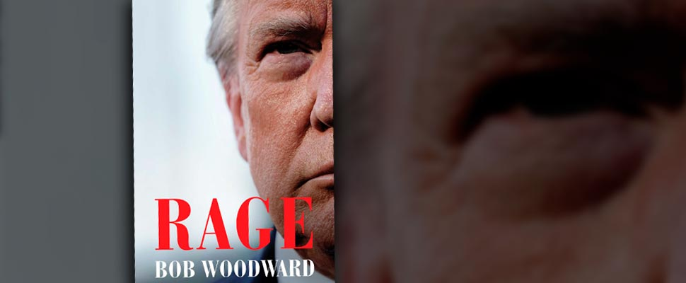 Cover of the book 'Rage' by Bob Woodward