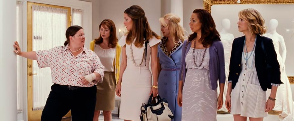 Still from the trailer for the movie 'Bridesmaids'