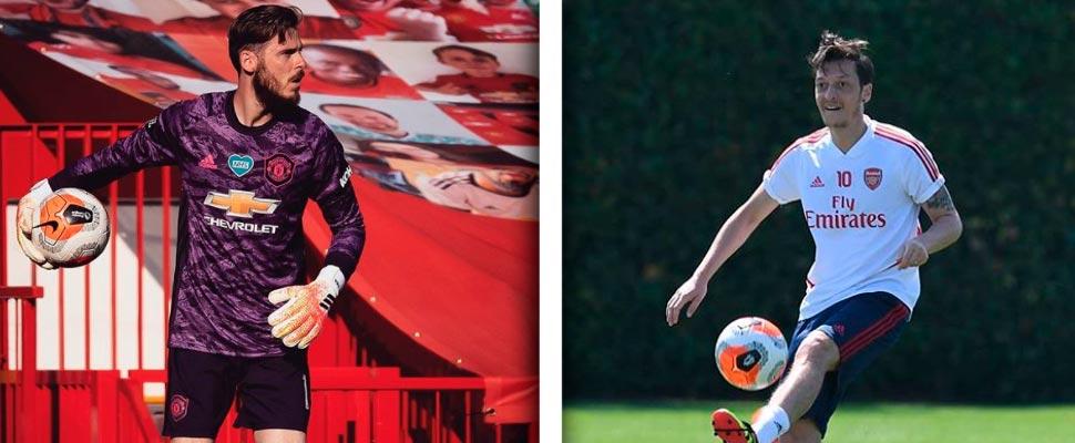 David De Gea y Mesut Ozil
