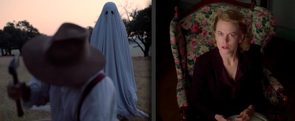 Still from the film 'A Ghost Story' and 'The Others'