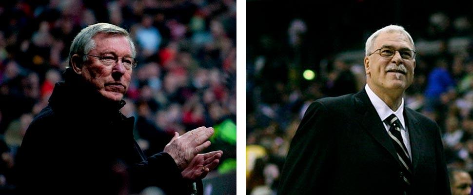 Alex Ferguson y Phil Jakcson