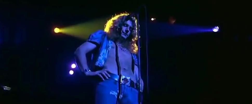 Still from Led Zeppelin's video 'Stairway to Heaven Live'