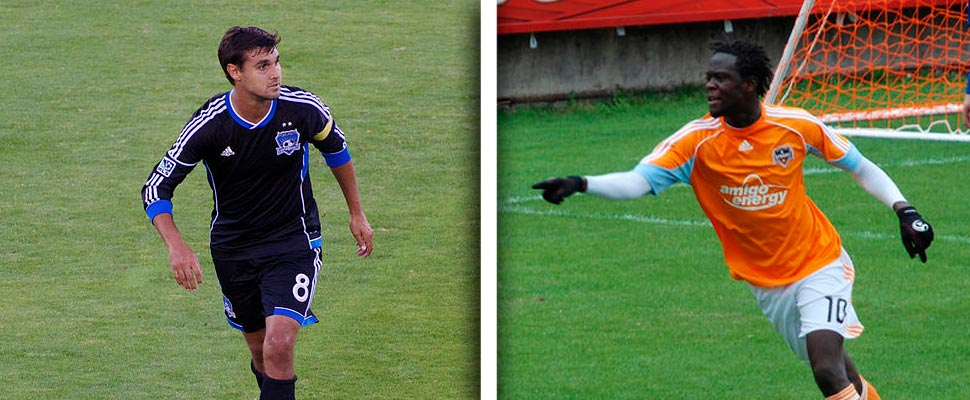 Chris Wondolowski y Kei Kamara