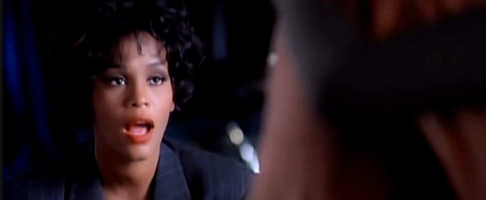 Still from the video clip 'I Will Always Love You by Whitney Houston'