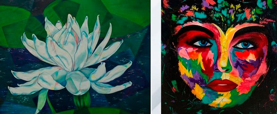 A Wonderful Artistic Display with the Face of 23 Female Artists
