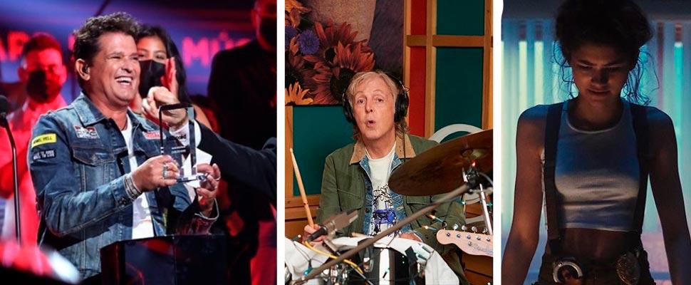Carlos Vives on the Latin Billboard, Paul McCartney and Zendaya