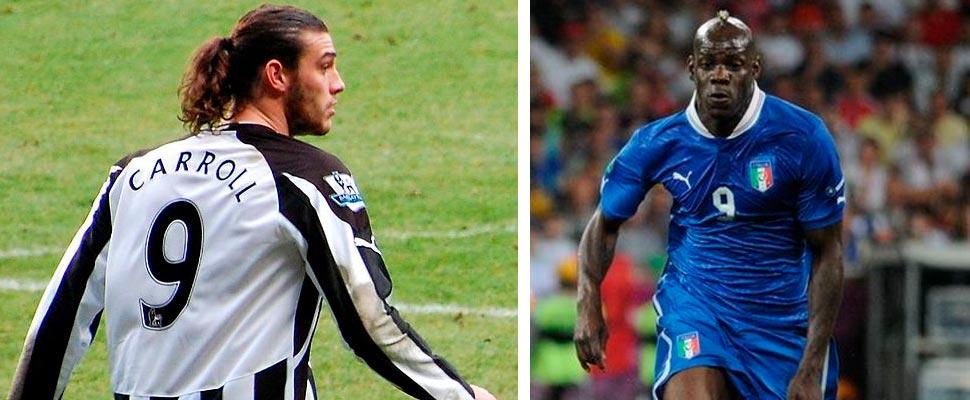 Andy Carroll y Mario Balotelli