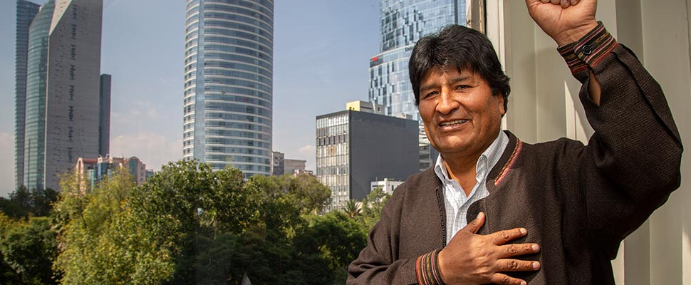 What happened to Evo Morales in Bolivia after the elections?