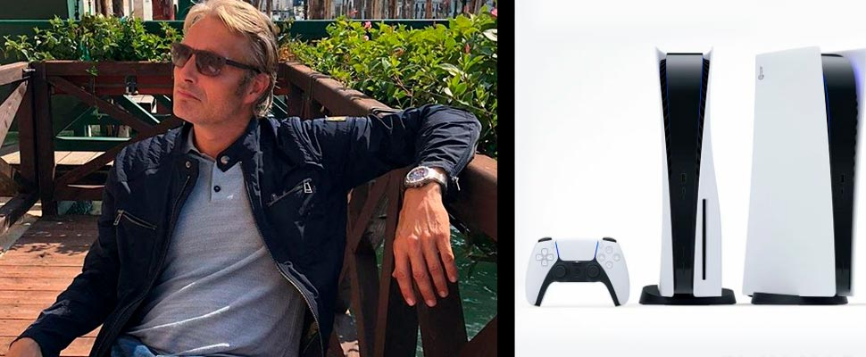 Mads Mikkelsen and the PS5 Console