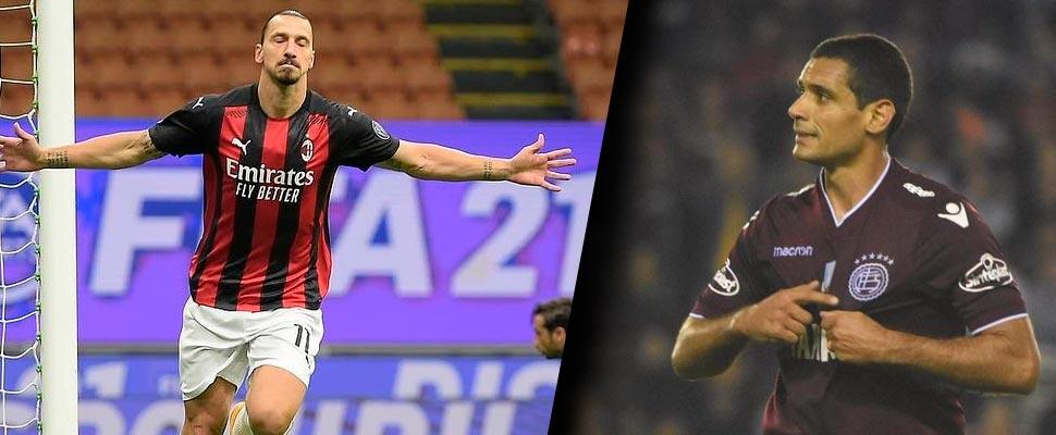 Zlatan Ibrahimovic and José Sand