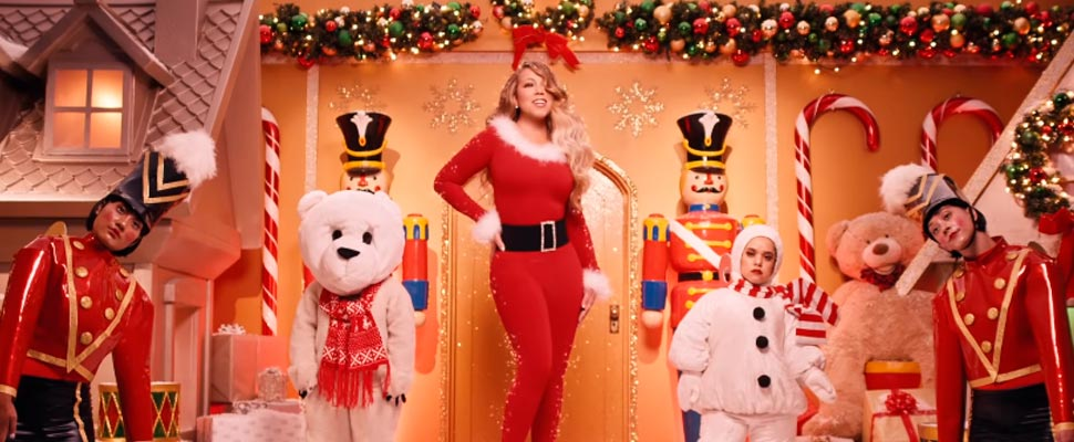 Still from the video clip 'All I Want for Christmas is You'