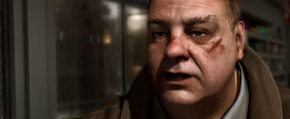 Frame from the trailer for the video game 'Heavy Rain'