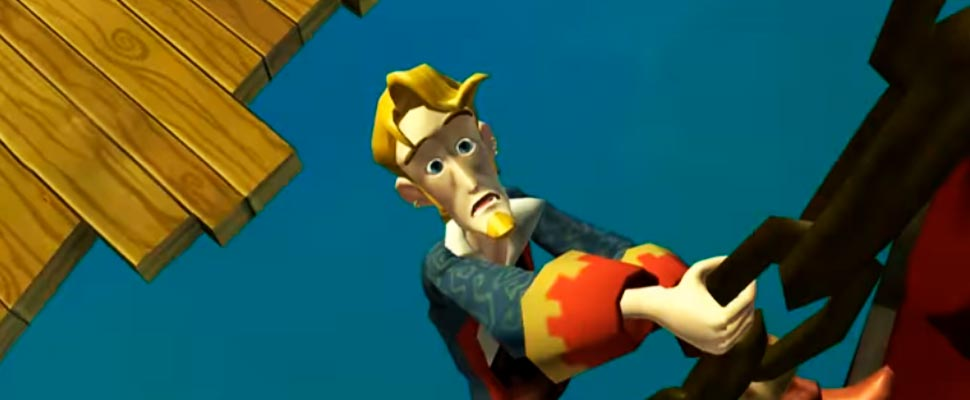 Frame from the video game trailer 'Monkey Island'