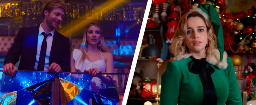 Still from the films 'Holidate' and 'Last Christmas'