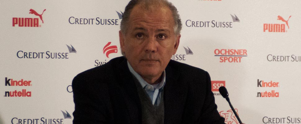 Alejandro Sabella during a press conference