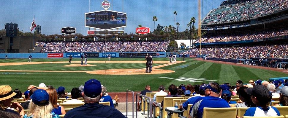 Vista del estadio de los Dodgers
