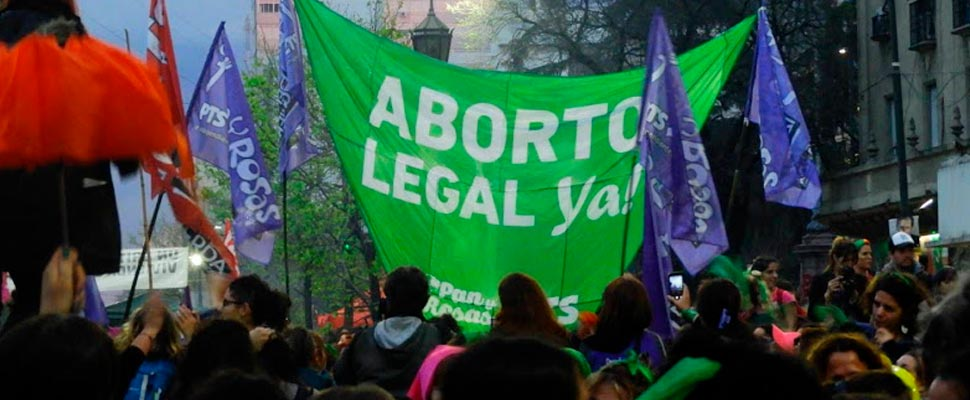 Demonstration for the legalization of abortion
