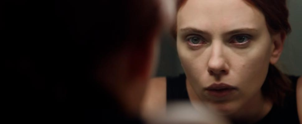 Frame from the Marvel Studio's Black Widow trailer