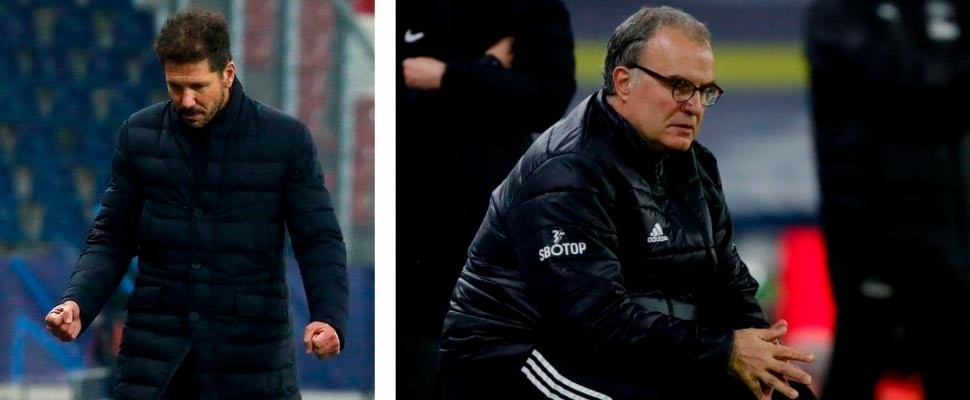 Diego Simeone and Marcelo Bielsa