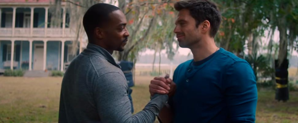 Still from the trailer for the series 'Falcon and the Winter Soldier'