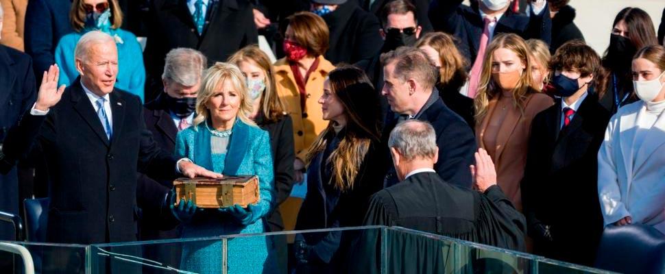 Joe Biden in office as President