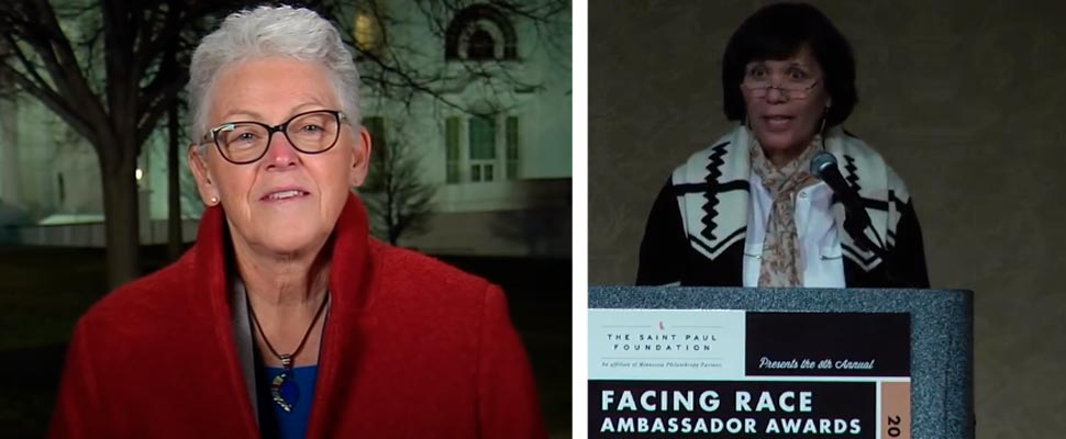 Gina McCarthy and Cecilia Martinez