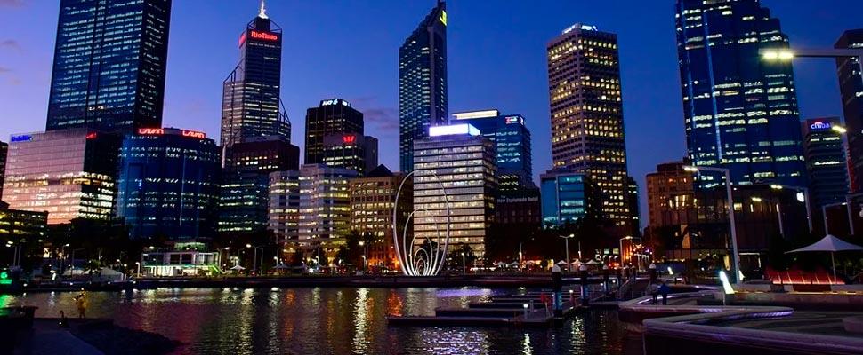 Vista de la ciudad de Perth en Australia