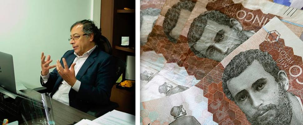 Gustavo Petro and Banknotes from Colombia
