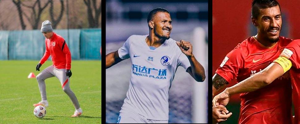 Oscar Emboaba, Salomón Rondón and Paulinho