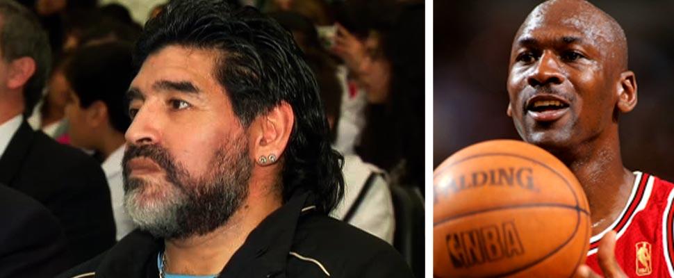 Diego Maradona y Michael Jordan