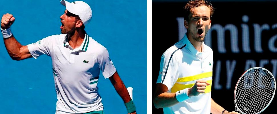Novak Djokovic y Daniil Medvédev