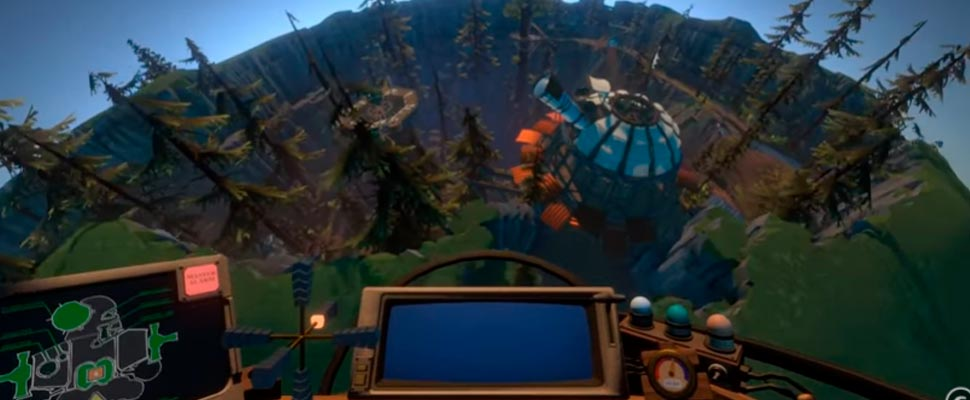 Frame of the video game trailer 'Outer Wilds'
