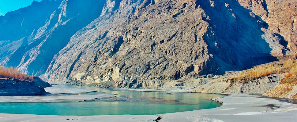 View of the Hunza River in Pakistan
