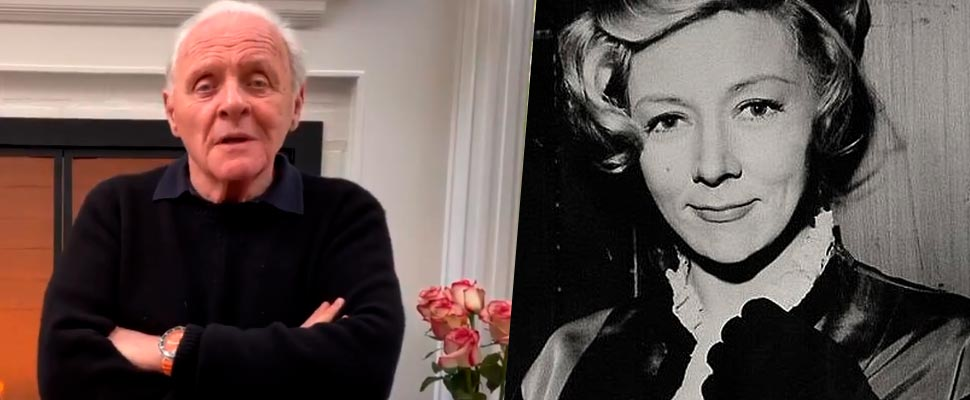 Anthony Hopkins and Gloria Grahame