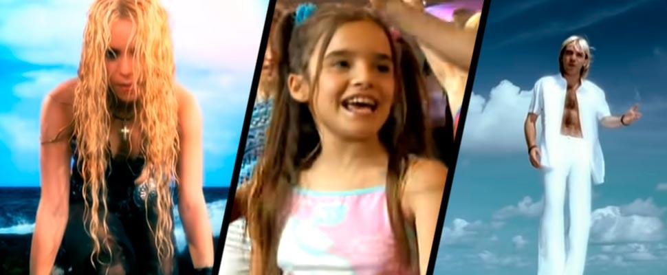 Shakira, Melody and Cristian Castro.