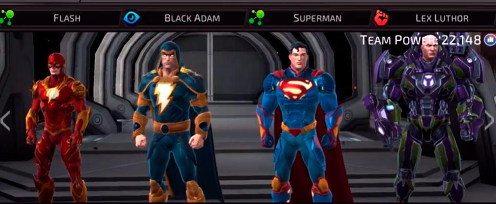 Frame from the video game 'DC Legends'