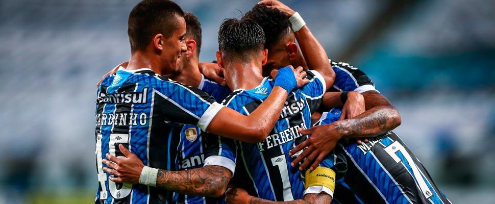 Jugadores del Equipo Gremio de Brasil