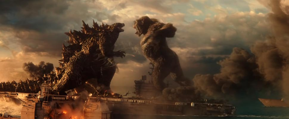Frame from the movie 'Godzilla vs. Kong '