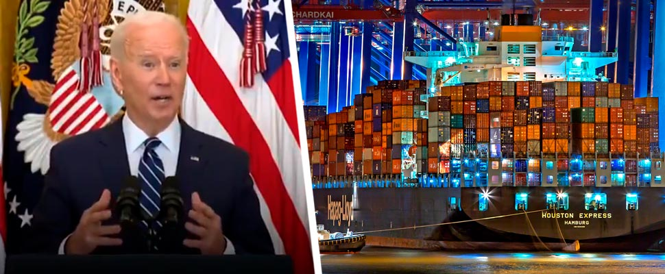 Joe Biden and containers