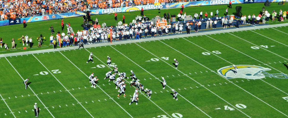 NFL players during a game