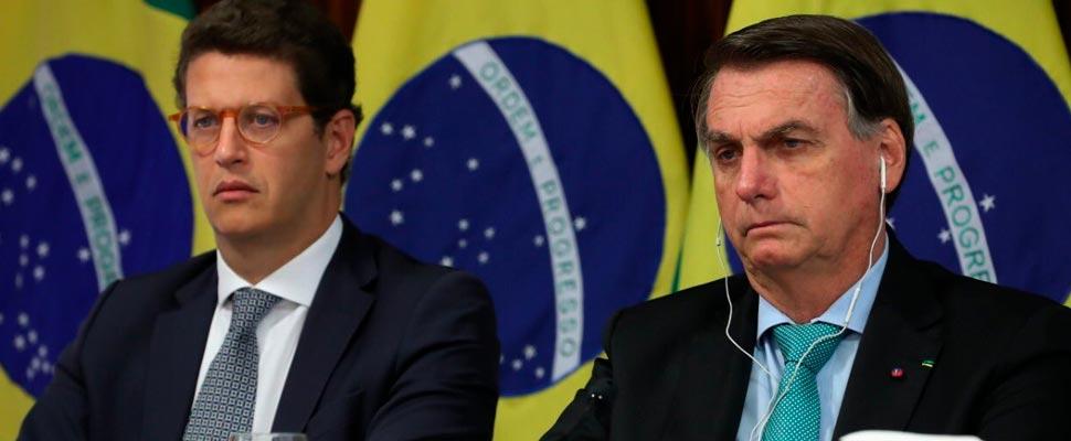 Ricardo Salles and Jair Bolsonaro