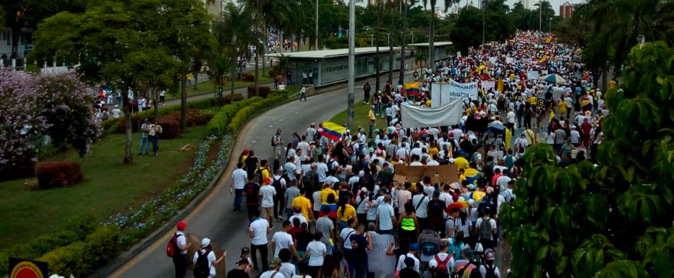 Why are Colombians on strike on April 28?