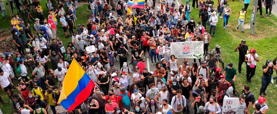 Demonstration in Colombia