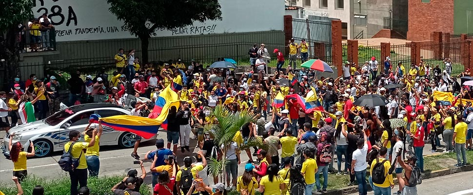 Colombians in the demonstrations of the national strike